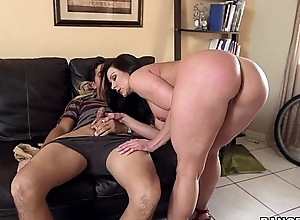 Obese a-hole milf kendra pang on the top of will not hear of kness for some strapon