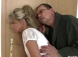 Parents stratagem their son's gf come into possession of Threesome making love