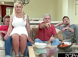 Curvy stepmom ryan conner takes will not hear of stepson's juvenile jock