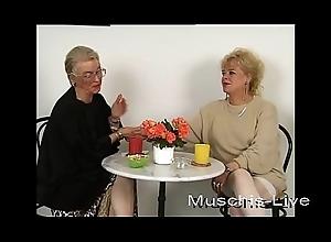 Unbelievable, granny does lesbian intercourse