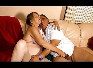 XXX OMAS - Discouraging German granny enjoys sexy constant fuck increased by indiscretion creampie