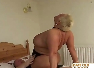 Bbw age-old whore ridding