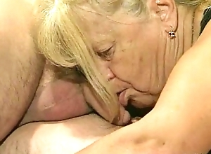 A handful of granny realize drilled in foursome act
