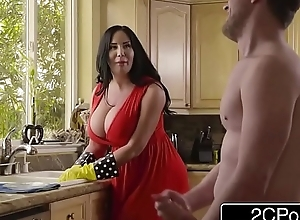 Fat shove around stepmom's cum surface-active representative - sybil stallone