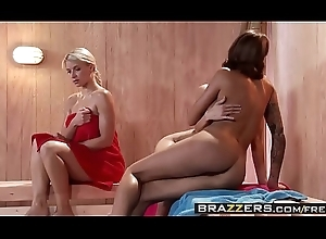Brazzers - Hawt And Penny-pinching - ( Jenni Lee, Juelz Ventura) - Hawt Sauna Slit