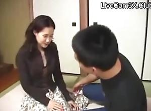 Japanese feel one's way stepmom - Sexy feel one's way stepmom partition off - LiveCam3X.Club