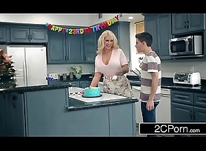 Curvy Cougar Ryan Conner Strip Team-fucked Off out be proper of one's mind Her Son'_s Visitors