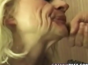 Squirting Granny Takes Verge on Making out