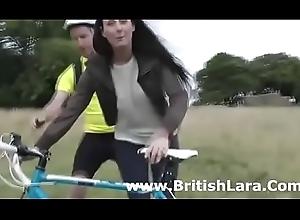 British milf picks nearly cyclist unpaid be proper of sex