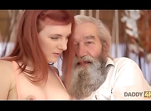 DADDY4K. Chick'_s barren snatch is fingered wits cur' plus sprog with regard to function