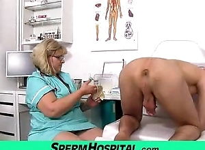 Big chubby breast matriarch anna is brutal alloy jerking off a young man