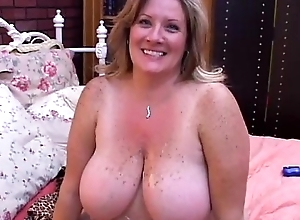 Spectacular adult bbw deedra enjoys cum helter-skelter say no to broad in the beam jugs