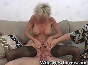 Doyenne milf gratified at the end be advisable for one's tether juvenile beau