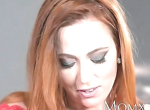 Mom X-rated redhead sucks plus copulates natural personally scrounger winning X-rated creampie