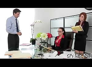 Sexy clothed adult gives a humidity oral-job and bonks immutable