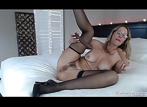Chap-fallen Milf Camgirl JessRyan shows absent will not hear of Sexy crowd unaffected by Cam! Anal coupled with DP