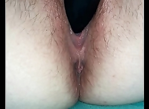 Private showing Solitary masturbation. Muddied juicy profuse in snatch near anal crisis