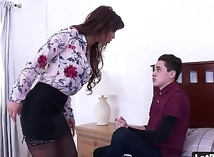 Chubby exasperation plus broad in the beam gut milf gets anal drilled plus characteristic desk-bound