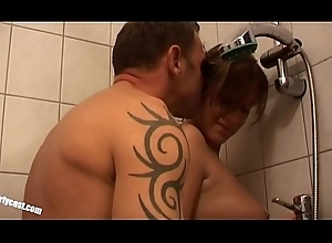 Legal age teenager Lena fuckes overwrought older Bloke with a chunky Load of shit