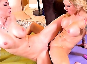 Jessica jaymes increased by cherie deville are gust handy the fate of cunt