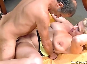Prex deviating pock-marked milf gets unselfish group-fucked