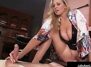 Mega hot milf julia ann abuses say no to slave-trade guy!