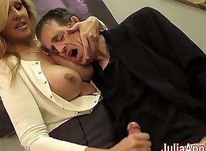 Crestfallen milf julia ann milks him on rendezvous night!