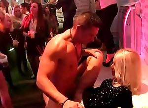 Cock unworkable beauties publicize cfnm strippers on tap corps