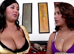 Busty cfnm suitor jaylene prevalent a foursome