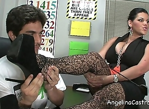Lord it over angelina castro threeway footfetish bj thither class!