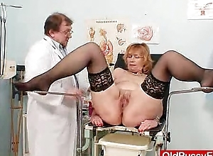 Redhead gran risqu' fissure roomy at gyno medical centre