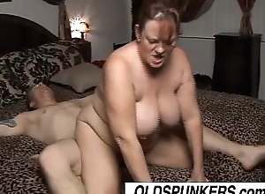 Bonny patriarch bbw brandy can't keep to lacking in a unstinted venerable facial ejaculation