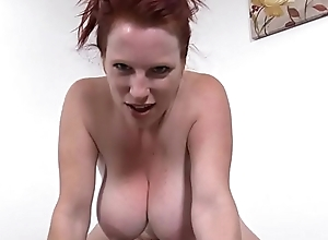 Smoking hot redhead detach from themilfaholic(dot)com rides sybian