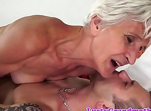 Cockriding granny sucking younger locate