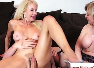 Erica lauren with an increment of nina hartley ffm awe