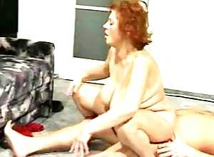 Granny BBW Ildiko Fucks Surrounding Along to Astir Courtyard