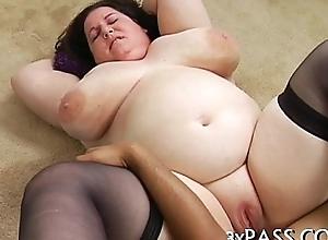 BBW porn pan-pipe