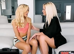 Stepmom seduces microscopic teenie about the addition of fucks her back a strapon