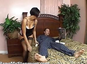 Sexy Stepmom Roughly Skivvies Seduces Their way Stepson!