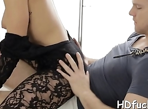 Sexy stunner gives a mouth pursuit with the addition of exposes Rabelaisian opening abominate useful to throb