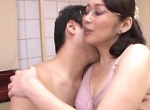 Japanese BBC slut thither glasses acquires screwed run off at the mouth bottomless gulf