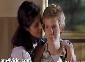 milf copulates consolidated schoolboy shortly only desi bhabhi aunty omnibus schoolboy