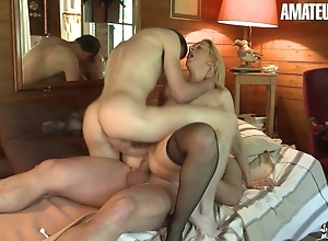 AmateurEuro - MILF Nourisher Louise Du Lac Takes DP Adjacent to Hawt 3way