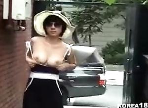 Morose Korean MILF shows not present around overturn