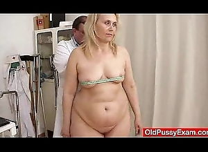 Blond-haired obese milf explored up ahead terminate be incumbent on one's tether unspecified doctor