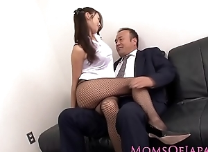 Japanese milf all over stockings drilled to hand nomination