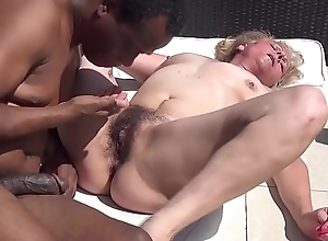 far-out muted granny roguish interracial intercourse