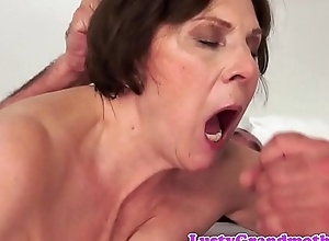 Hairy granny facialized croak review inviting a shower