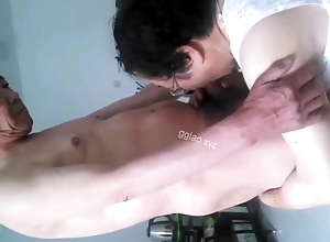 chinese granny gives oral-stimulation