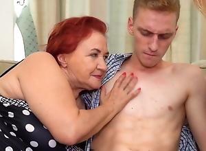 Russian sexiest redhead granny